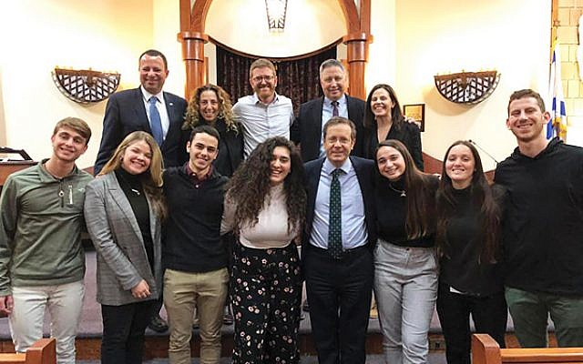 Head of the Jewish Agency for Israel Isaac Herzog, front row, fourth from right, with rishonim, young Israeli emissaries, and other staff and leaders of the Jewish Federation of Greater MetroWest NJ. Photo courtesy Greater MetroWest Federation