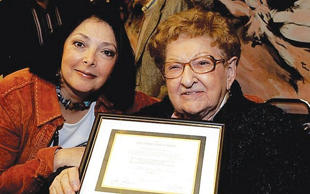 Barbara Wind, left, with the late Sister Rose Thering, who urged Wind to take the job at the Holocaust Council. Photo by Elaine Durbach