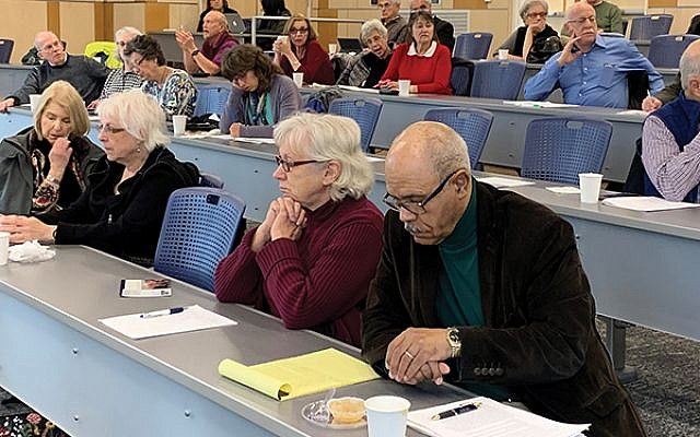 Audience members at the Holocaust and Genocide Research Symposium. Photos by Johanna Ginsberg