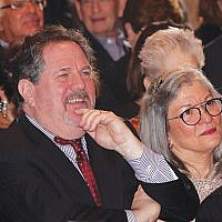 Rabbi Clifford and Robin Kulwin listen to the guest speakers in TBA's Ross Sanctuary. Photos courtesy Jan Press PhotoMedia, Livingston