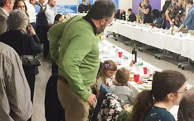 Attendees gathered for the 19th New Jersey Labor Seder.  Photos by Jed Weisberger