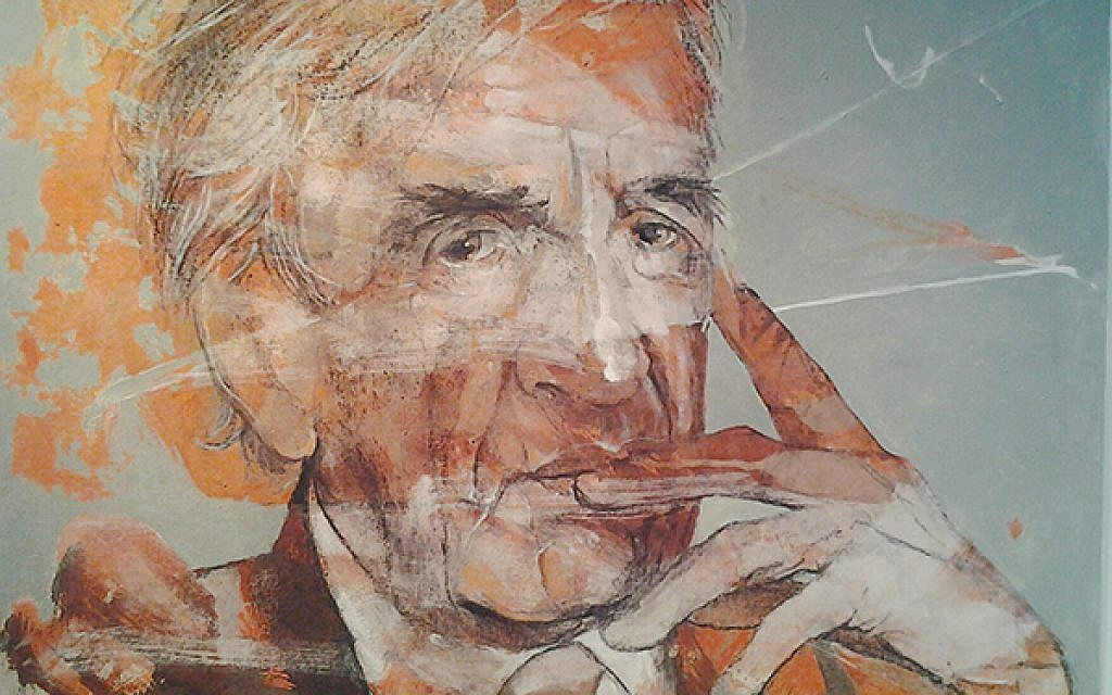 """A sign of """"life"""": After completing one portrait of Elie Wiesel, local artist Meyer Uranovsky said he felt inspired to keep going. Over the course of nearly a year of work, he decided to do 18, chai, the symbol of life and continuity. All are on exhibit at UJA-Federation for the next two months. Photos courtesy of UJA-Federation"""