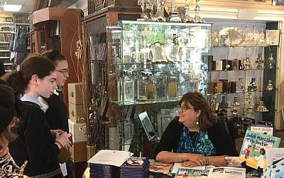 """Efforts to counter the anti-vaccination movement included a discussion last week at the New Eichler's in Borough Park by Ann Koffsky on her 2015 book about the importance of vaccination, """"Judah the Maccabee Goes to the Doctor."""" Courtesy of Ann Koffsky"""