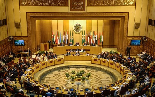 Members of the Arab League hold a meeting at the grouping's headquarters in the Egyptian capital of Cairo to discuss the latest developments in the Palestinian territories, on April 21, 2019. Getty Images