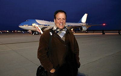 Jeff Scott Goldman prepares to board Air Force One as a member of the White House press corps. Photo courtesy Jeff Scott Goldman