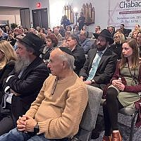 About 200 people attended the Peace & Unity Gathering held two days after the April 27 shooting at Chabad of Poway in Calif.  Photo by Johanna Ginsberg