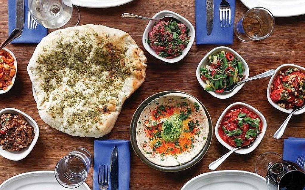 A spread at Zahav, Michael Solomonov's James Beard award-winning restaurant in Philadelphia. Courtesy of Zahav/Alexandra Hawkins