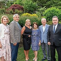 "From left, Vita and George Kolber, hosts of ""Starry Night Generations Writing for Right,"" with Honorable Kim Guadagno, Sossie and Tavit Najarian, and Rep. Chris Smith (R-Dist. 4). Photo by Patty's Pixels Event Photography"