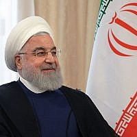 Iran's President Hassan Rouhani at the Shanghai Cooperation Organization Summit in Bishkek, Kyrgyzstan, on June 14. Alexey Druzhinin/AFP/Getty Images