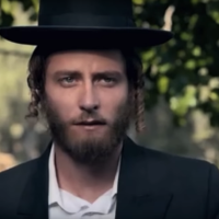"Michael Aloni stars in ""Shtisel."" (Screenshot from YouTube/via JTA)"