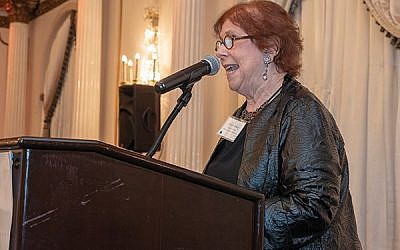 """At the Lieberman Humanism in Health Awards dinner, Marsha Atkind, Healthcare Foundation of NJ executive director, said providing care goes """"beyond fighting disease and infirmity; it is about healing in the truest sense of that word."""" Photo by Shelley Kusnetz Photography"""