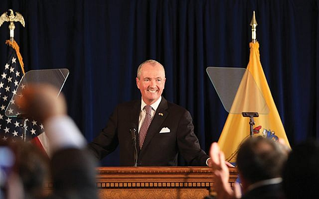 Gov. Phil Murphy announces he will sign the FY2020 budget in Trenton June 30. Photo by Edwin J. Torres/Governor's Office.