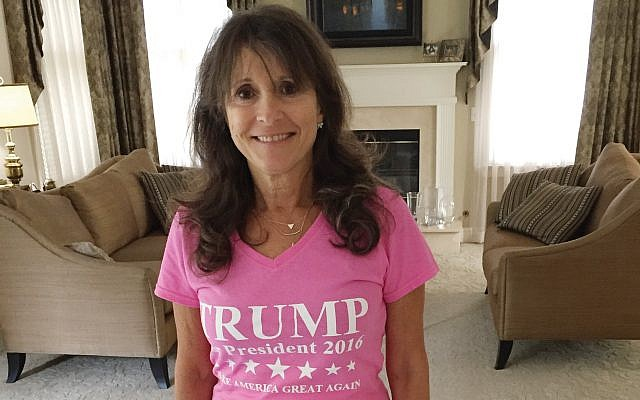 East Brunswick's Esther Kosoffsky wears her support for President Donald Trump.  Courtesy Esther Kosoffsky
