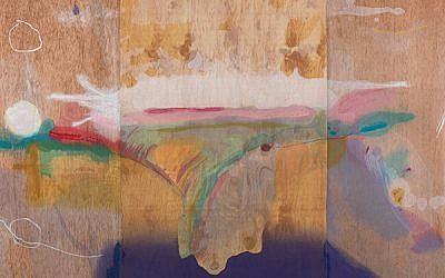 """Madame Butterfly,"" Helen Frankenthaler, color woodcut, 2000. ©2019 Helen Frankenthaler Foundation"