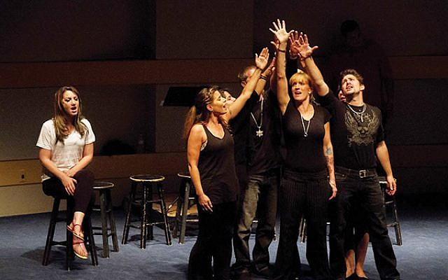 "Recovering addicts perform in ""Freedom Song."""