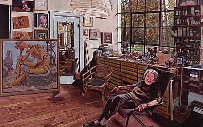 """Portrait of Bernarda Shahn, wife of Ben Shahn"" by Mel Leipzig"