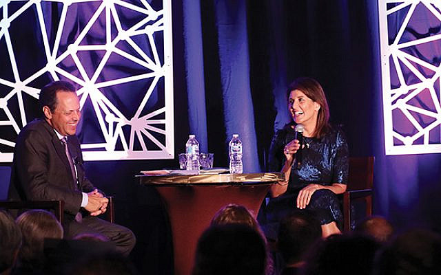 Nikki Haley and Mark Wilf share a laugh at the Jewish Federation of Greater MetroWest NJ's event featuring the former United States ambassador to the UN.  Photos courtesy Jewish Federation of Greater MetroWest NJ