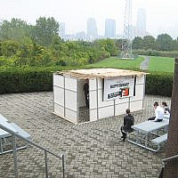 A sukkah will be available for use by patrons of Liberty Science Center in Jersey City.