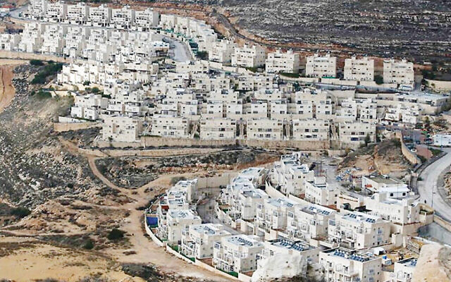 An Israeli settlement on the West Bank. Photos by Getty Images
