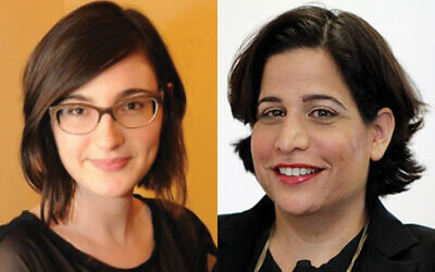 """Efrat Oppenheimer, director of family philanthropy for JFN Israel, left, and Maya Natan, JFN Israel's executive director. """"People aren't born philanthropists but they can grow into it,"""" Natan says."""