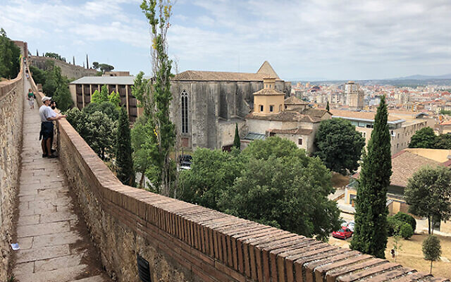 A view of Girona from the old Roman walls. Photos by Jennifer Altmann
