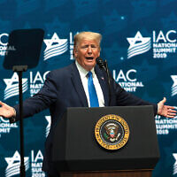 Not for the first time, President Donald Trump was accused of using anti-Semitic tropes while addressing the Israeli American Council on Saturday.