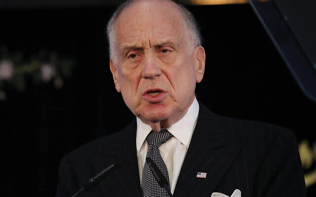 Ronald Lauder, president of the World Jewish Congress, in Berlin last fall.  Sean Gallup/Getty Images