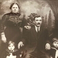 The author's family circa 1914. Her father seen lower left. Karen Galatz