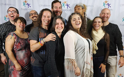 Members of Freidom at a storytelling event.  Photo Courtesy Freidom