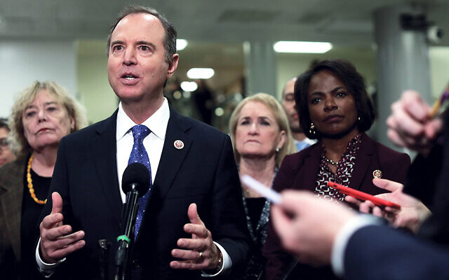 Rep. Adam Schiff of California is chair of the House Intelligence Committee and one of seven House impeachment managers. Getty Images