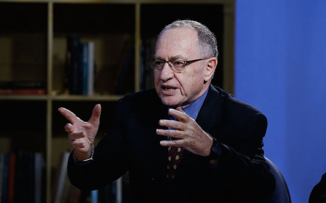 Alan Dershowitz at NEP Studios in New York, Feb. 3, 2016. (John Lamparski/Getty Images for Hulu)