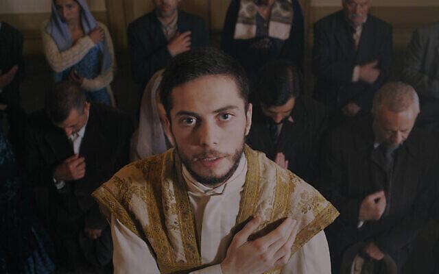 "Actors portraying Portuguese Jews in the film ""Sefarad,"" which was shot in 2018 in Porto, Portugal. Courtesy of the Jewish Community of Portugal/JTA"