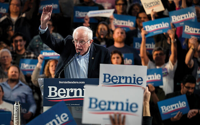 Sen. Bernie Sanders at the University of Houston on Feb 23. Getty Images