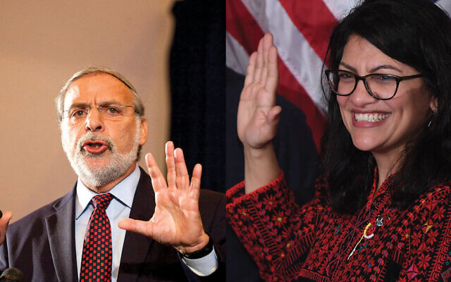 Former NY state Assemblyman Dov Hikind was ejected from an event at Rutgers University for calling on Rep. Rashida Tlaib to apologize for inflammatory rhetoric.
