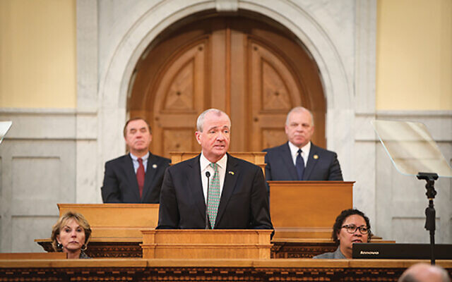 Days after a bomb threat was sent to the JCC MetroWest in West Orange, Gov. Phil Murphy announced that his proposed 2021 budget would include significant increases in funding for non-profit institutions. Photo courtesy Office of the Governor of New Jersey