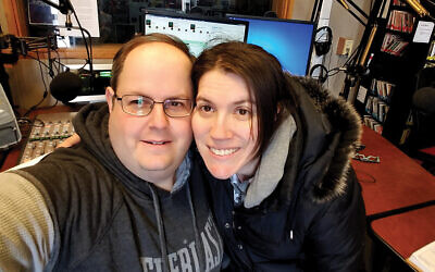 Top: East Brunswick's Josh Shron, at left, and wife Mairov Dubrovsky have hosted Israel Hour Radio since 1994. Photo Courtesy Josh Shron