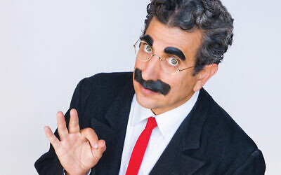 Frank Ferrante as Groucho Marx. Photo by Michael Doucett