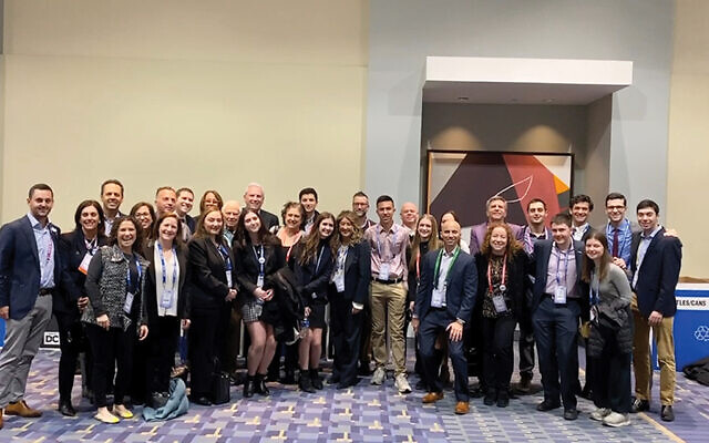 Golda Och Academy sent a delegation of students, pictured, to the AIPAC policy conference, as did the Rae Kushner Yeshiva High School.