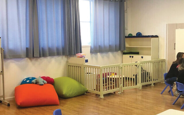 A specialized room in the expanded Aviv Kindergarten at the Feinberg Family Center.