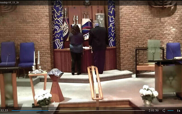 Monmouth Reform Temple in Tinton Falls is among the numerous congregations livestreaming services.