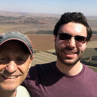 Alec Jaffe and his father, Robert, on a visit to Israel prior to Alec making aliyah.  Photos courtesy Robert Jaffe