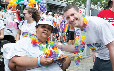 Out in the community: Dr. Farber at a recent Pride parade.