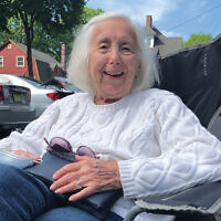 "Lenore Berkman, 93, of South Orange, remains positive. ""I try never to think of the dark side."" Photo Courtesy Laurie Berkman"