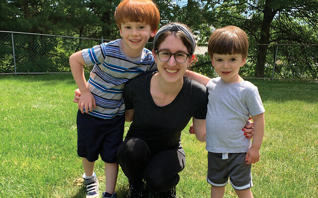 The author with her children in the Long Island suburbs. Courtesy Yael Buechler