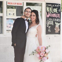 Newlyweds Eli Shapiro and  Ariella Segal Photo by Tricia McCormack Photography
