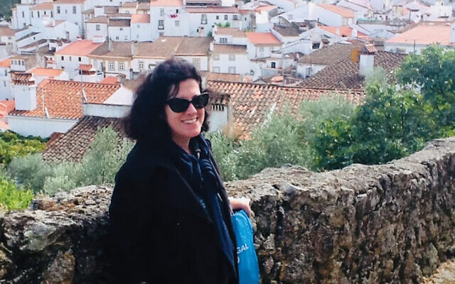 The author in the Portuguese town of Castelo de Vide.