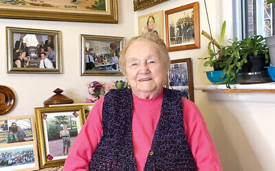 Elly Berkovitz Gross today, at  home in Queens.