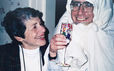 Merrill Silver's mother, Evelyn, and her husband, Andy, as Elijah in the early 1990s.