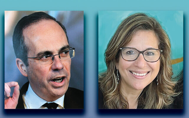 Robert Katz, left, and Orna Sheena (photos courtesy FIDF)