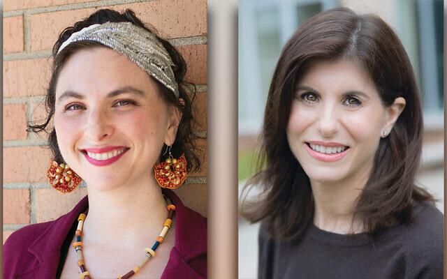 Cantor Elana Kissner, left, Rabbi Abigail Treu